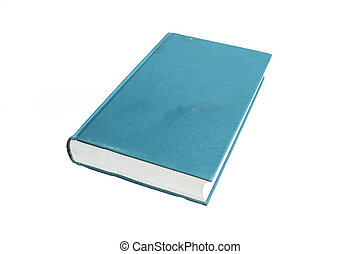 hardcover with pen book isolated on white background