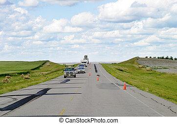 Prairie Highway - Prairie Road, the 4 highway in...