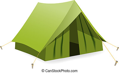 Tent. Vector illustration - Vector illustration, EPS10,...