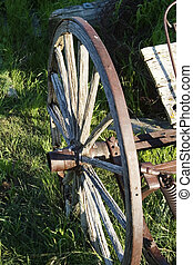 Wagon Wheel - An old wagon wheel detail