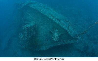 Underwater in the Florida Keys - A small tugboat wreck...