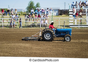 Preparing for the Rodeo - Preparing the ground at the...
