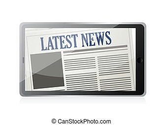 Latest News and technology illustration