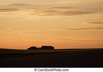 Saskatchewan Horizon at Sunset
