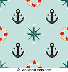 Seamless texture The maritime theme