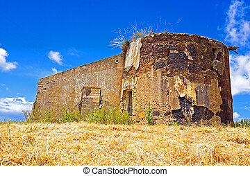 Old ruin in the countryside from Portugal