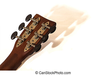 Guitar Headstock - BRown guitar headstock casting a shadow...