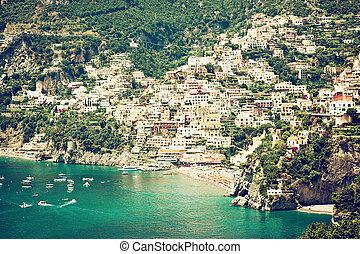 Positano Amalfi Coast Italy - View of the town of Positano