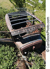 Rusted Prairie Car - An old rusted out car on the prairie...