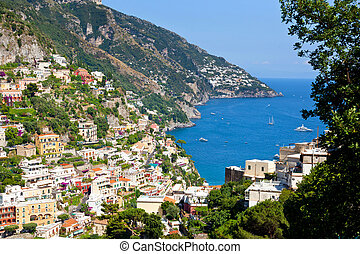 Positano Amalfi Coast Italy - View of the town of Positano