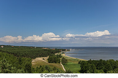 View from the highest dune over the curonian Spit, Lithuania