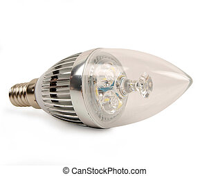 Led candle light bulb - led candle light bulb isolated on...