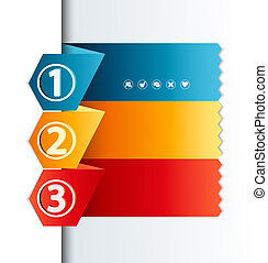 numbered banners - vector design template with numbered...