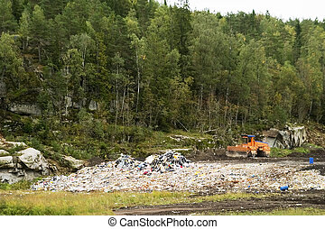 Oslo Landfill - The garbage landfill near Oslo, Norway