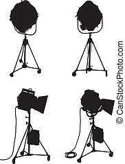 Lighting Equipment Set - Set of four professional lighting...