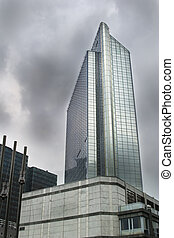 Hotel - A tall hotel glass building