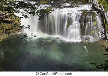 Lower Lewis River Falls View - Lower Lewis River Falls in...