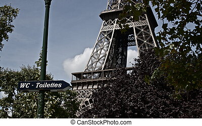 Eiffel Tower and Restrooms