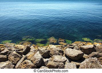 Ocean and Rocks