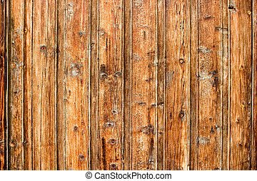Old Wood Background - Old pine panelling that has been cured...