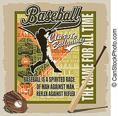 baseball sport game - vector baseball sport for T-shirt...