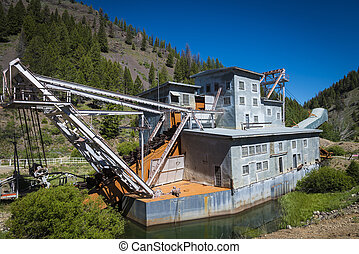 Yankee Fork Dredge, Idaho - Old dredge on the Yankee Fork...