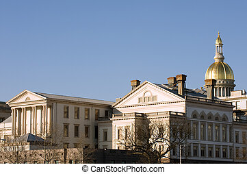 New Jersey state house and capitol complex in Trenton