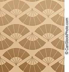Elegant Japan fan pattern - Japanese fan abstract seamless...