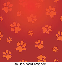 Dog footprints pattern
