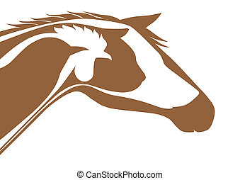 Brown veterinary logo - animal, background, beauty, bird,...
