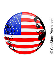 Presidents Day American Flag Orb is - Illustration...