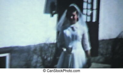 Daughters First Communion-1958 - A mother and daughter leave...