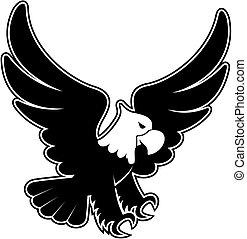 eagle landing cartoon