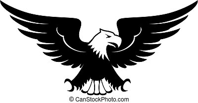 eagle emblem vector - front view image of eagle design...