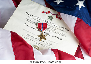 American Army Bronze Star for heroism - Bronze star, an...