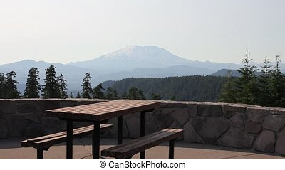 Majestic Mount St Helens Panning - Scenic View of Majestic...