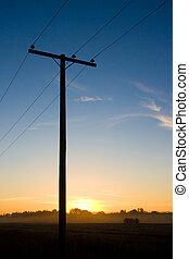 Power Pole - Power pole at sunset.