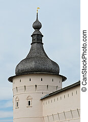 Rostov Kremlin - Wooden dome tower of Rostov Kremlin in...