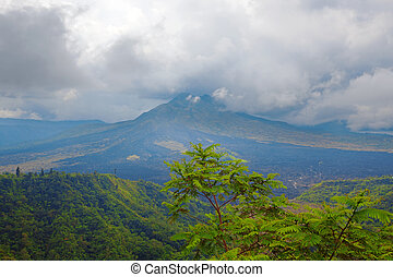 Mount Batur - View of the still active Mount Batur in Bali