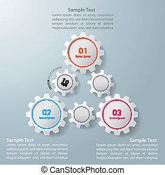 Triangle Gears Infographic Design - Colorful infographic...