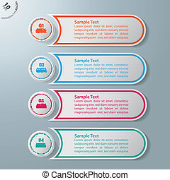 4 Circles 4 Options - Colorful infographic circles on the...
