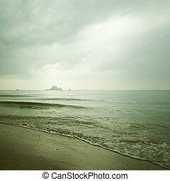 dramatisk, hav