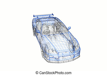 3d concept model of modern car project