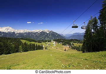 Austria mountains panorama - Austria large panorama of the...