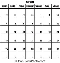 CALENDAR PLANNER MAY 2014 impact - CALENDAR PLANNER MONTH...