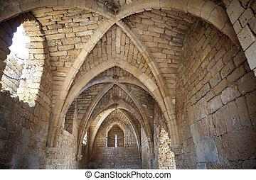 Caesarea ruins - Ruins of a Byzantine synagogue,...