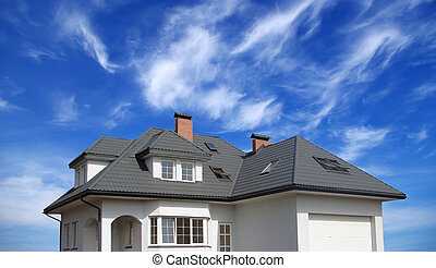 dream home - New dream home isolated on sky