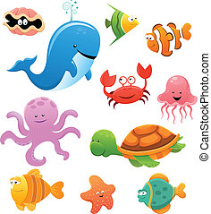 Sea Animals - Collection of sea animals.