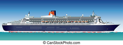 Vector hi-detailed cruise ship - Hi-detailed cruise ship...