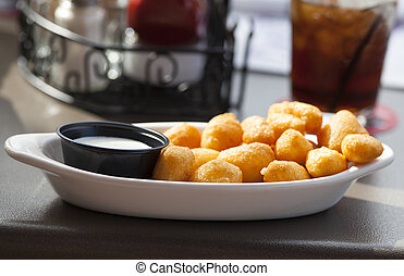 Cheese Curds - Cheese curds food up close